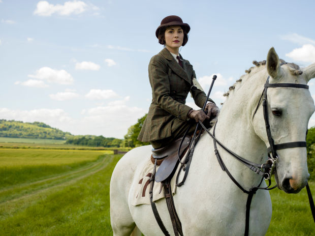 Downton Abbey - Mary on horse