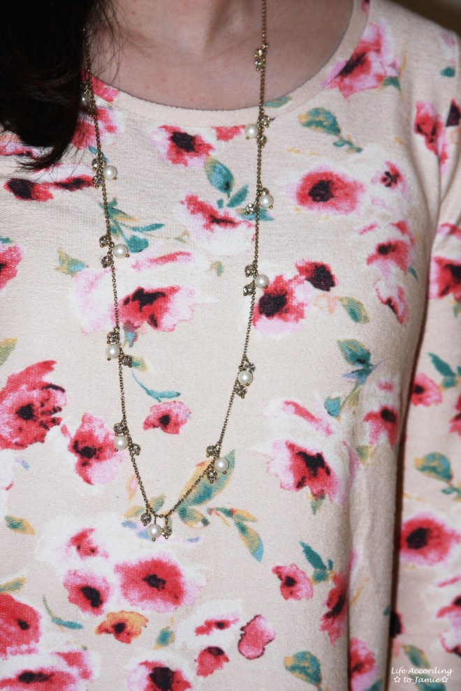 Pink Florals & Pearls