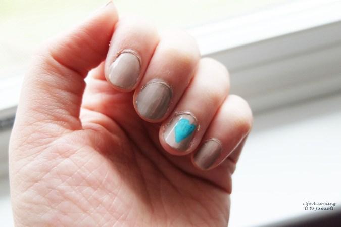 Under My Feet nail polish & turquoise heart