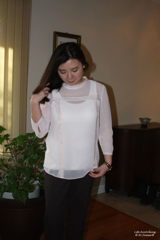 Lace Trimmed High Collar 2