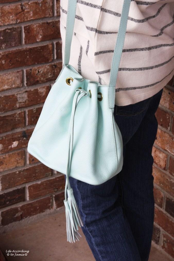 Mint Cream Bucket Bag 2