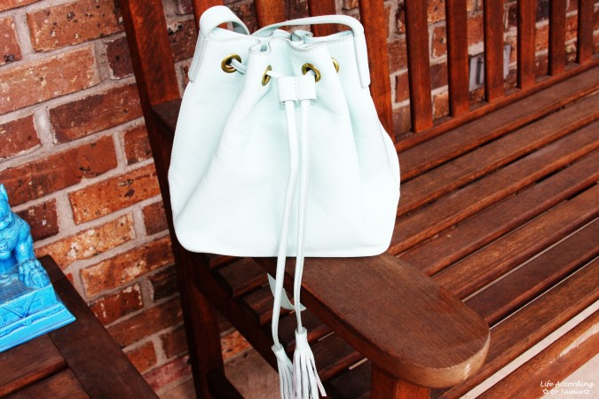 Mint Cream Bucket Bag
