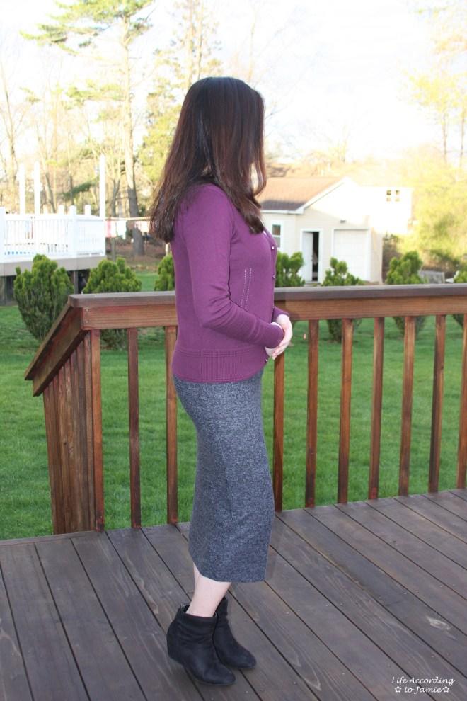 Plush Jersey Pencil Skirt 1