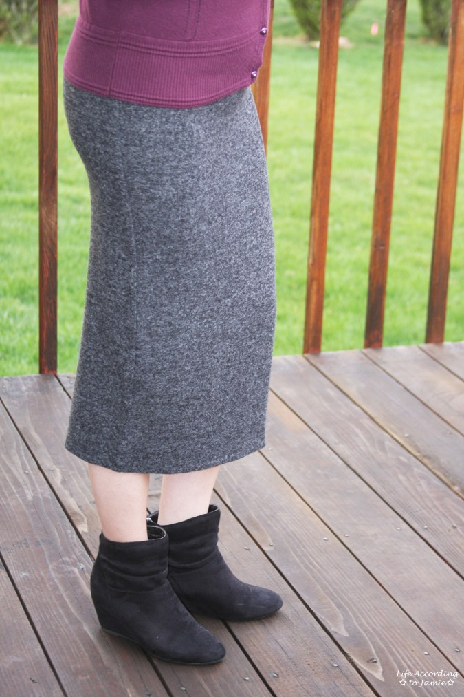 Plush Jersey Pencil Skirt 2