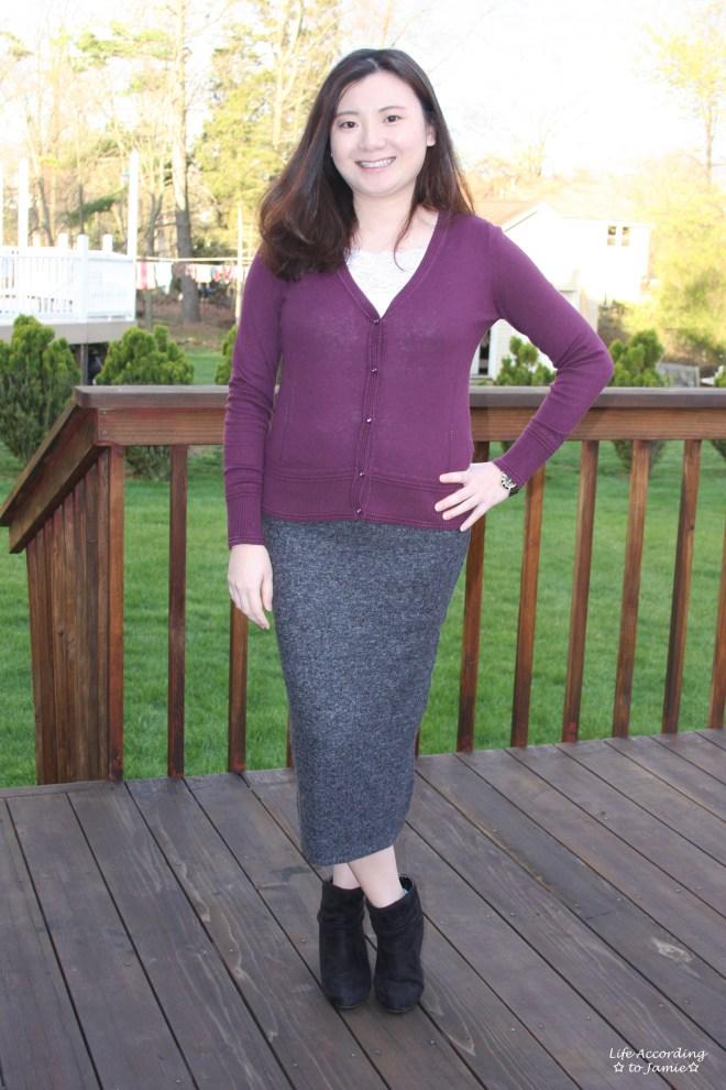 Plush Jersey Pencil Skirt