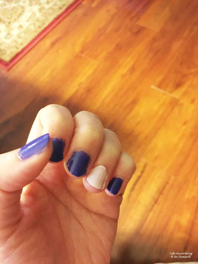 Reverse Accent Nails 2