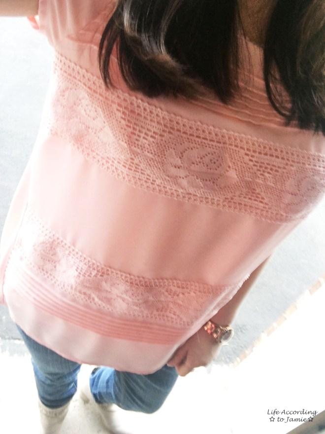 Powder Pink Lace Stripes 2