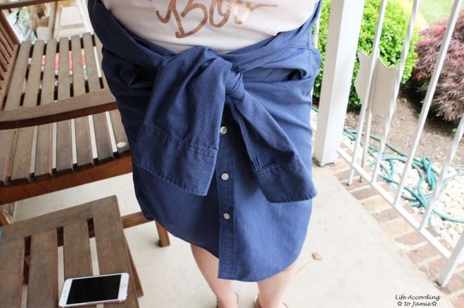 Shirt to Skirt 1