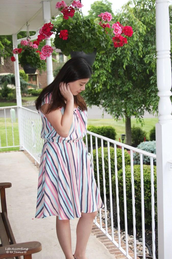 Striped Babydoll Dress 1