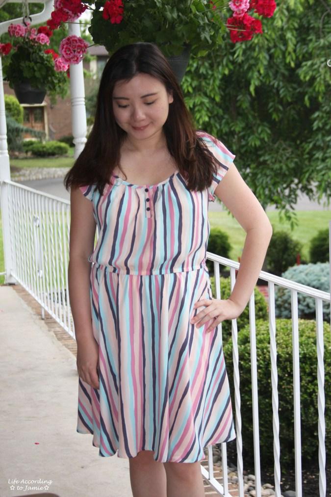 Striped Babydoll Dress 2