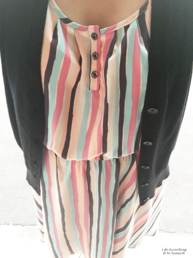 Striped Babydoll Dress 3