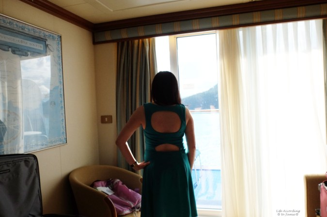 Back Cutouts - Green Dress
