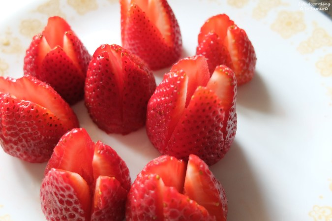 Cut Strawberries