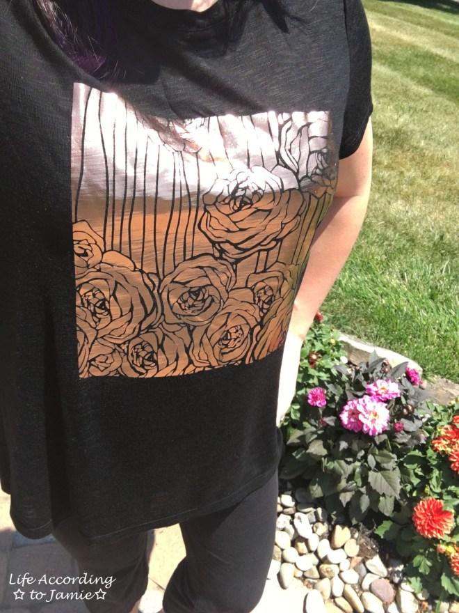 Rose Gold Roses Print