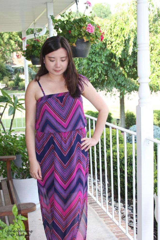 Scarf Print Maxi Dress 3