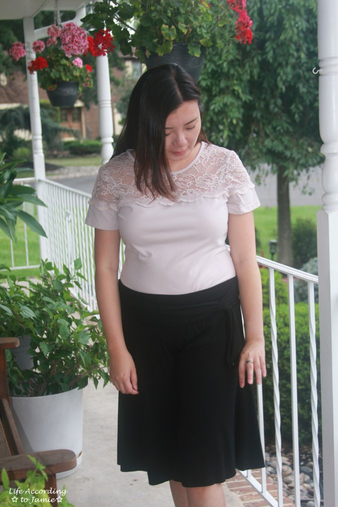 Lace Topped Blouse & Culottes
