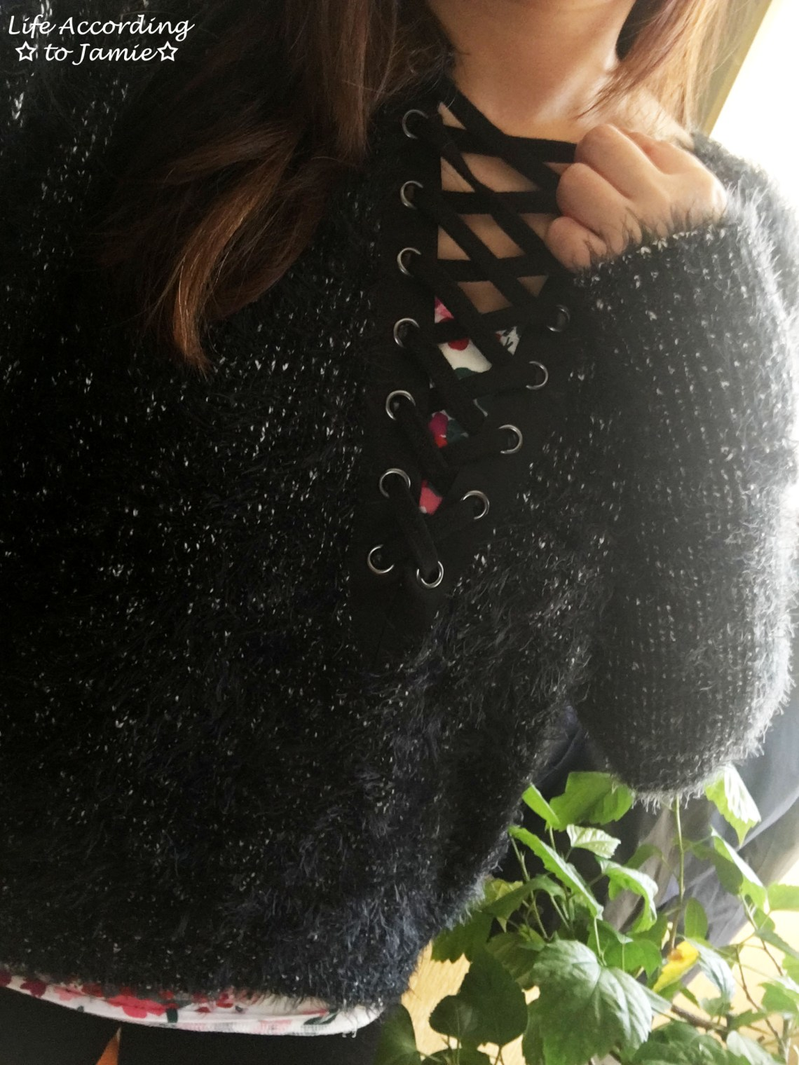fuzzy-lace-up-sweater