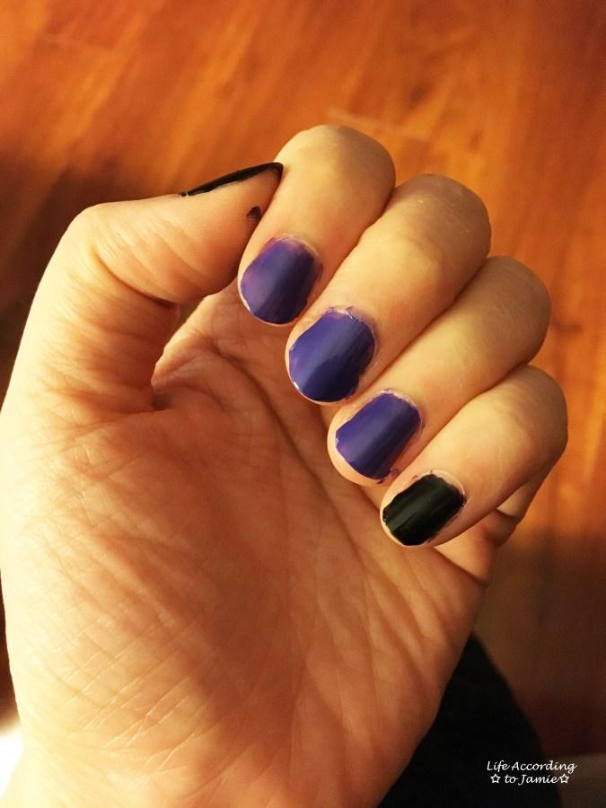 Black & Purple Nails