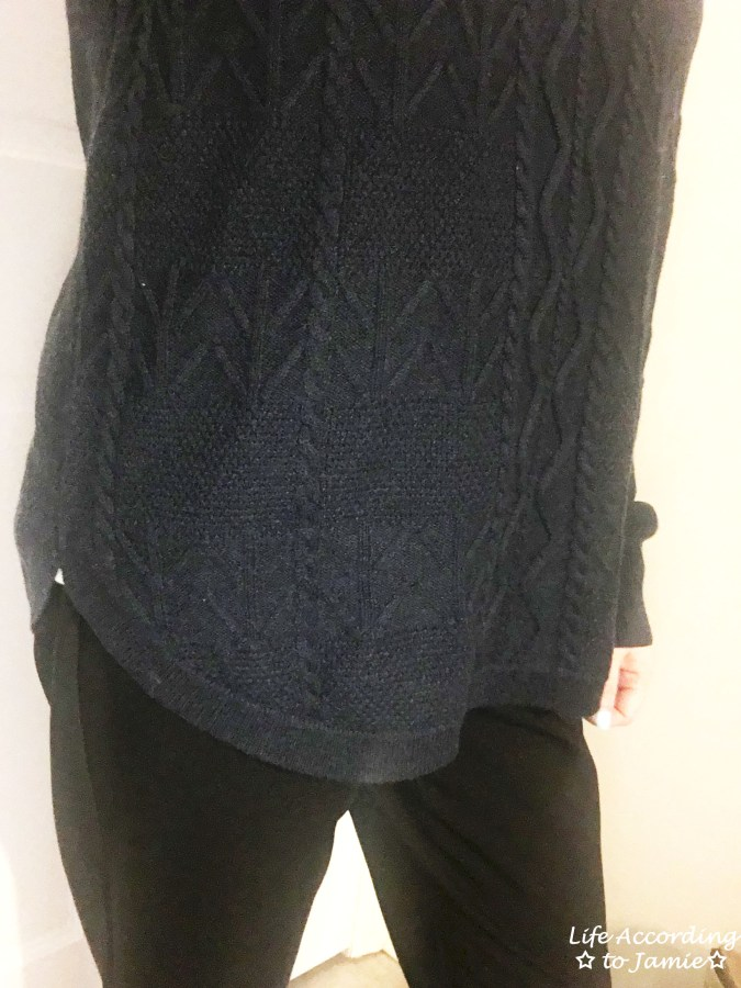 Curved Hem Cable Knit 2