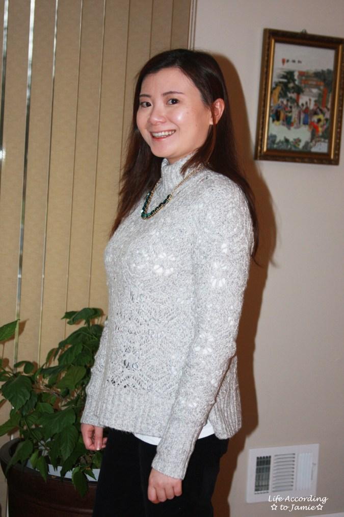 Mock Turtleneck Sweater 1