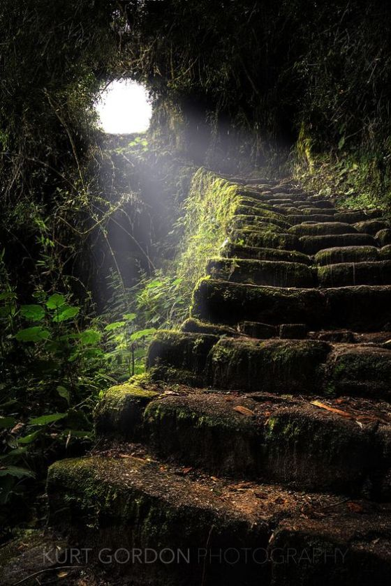 Inca Staircase - Inca Trail Peru