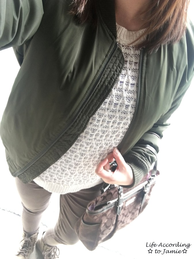 Khaki Green Bomber Jacket 1