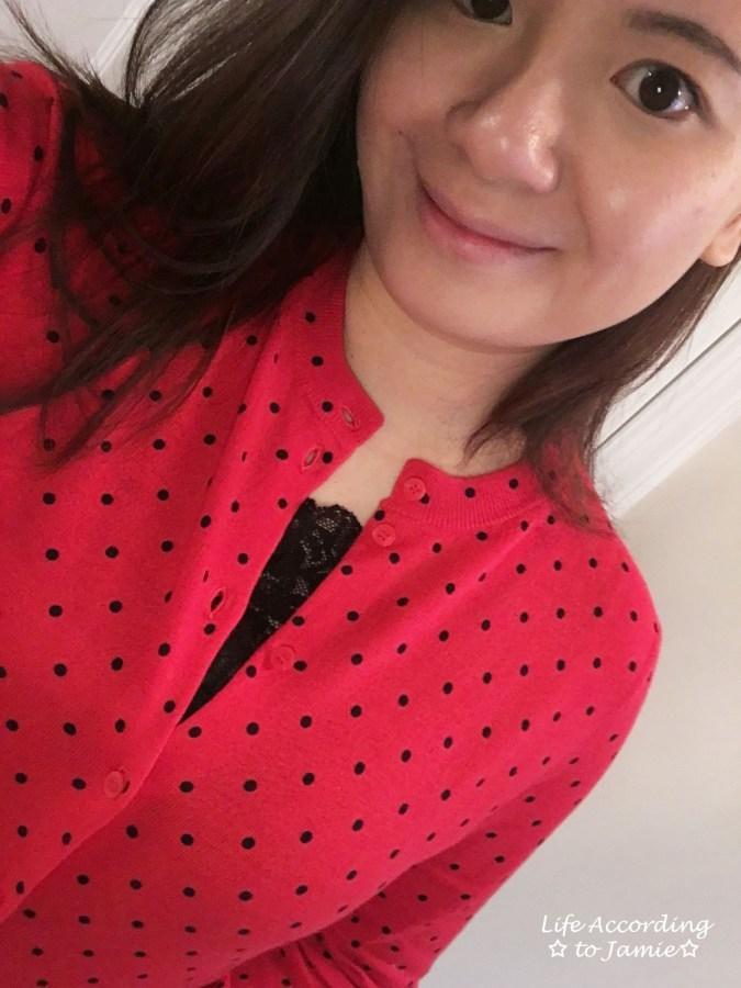 Red & Black Polka Dot Cardigan 5