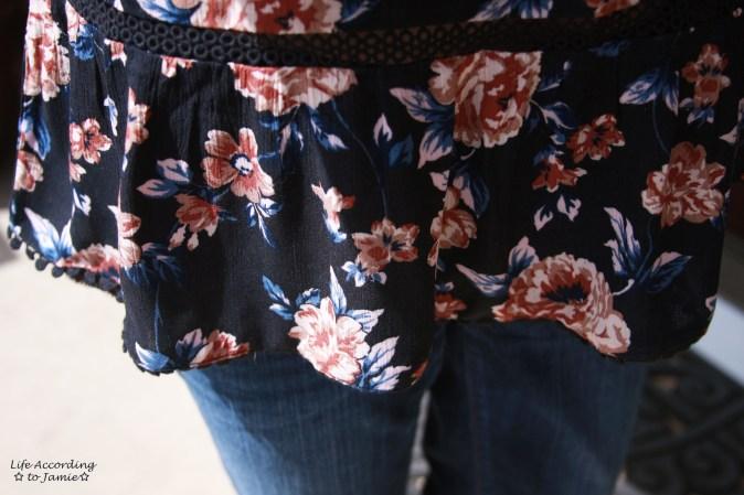 Dark Floral Off-the-Shoulder 8