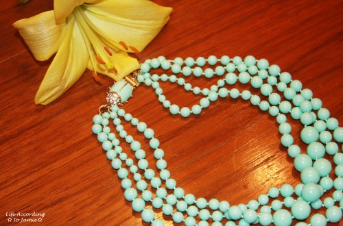 Mint Bead Necklace