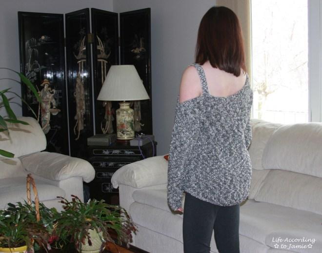 One-Shoulder Marled Sweater 2