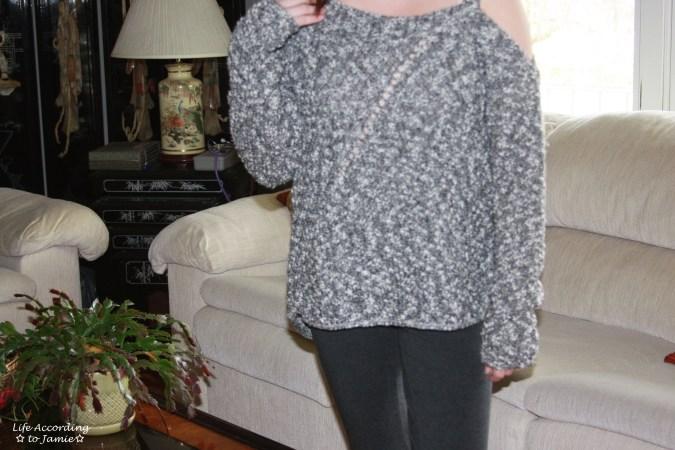 One-Shoulder Marled Sweater 4