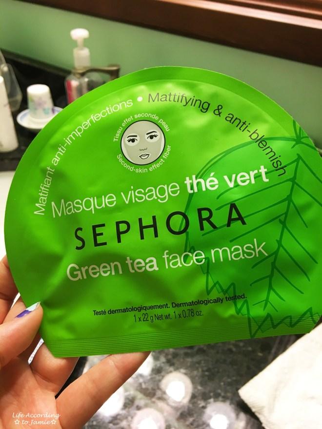 Sephora Green Tea Face Mask