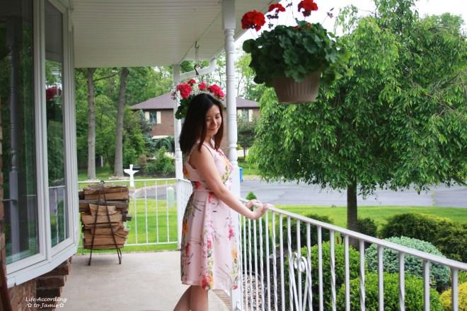 Soft Pink Floral Dress 2