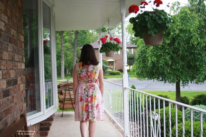 Soft Pink Floral Dress 3