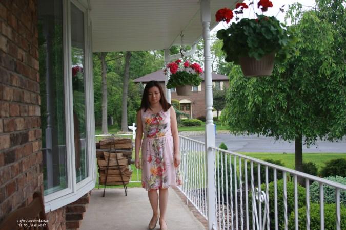 Soft Pink Floral Dress 4