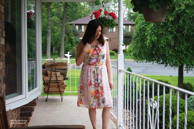 Soft Pink Floral Dress 5