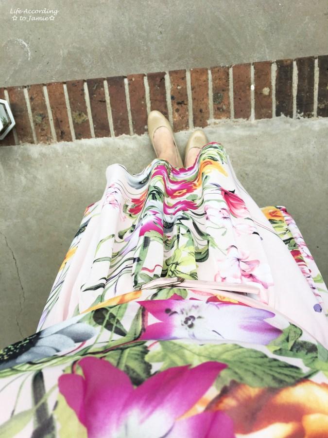 Soft Pink Floral Dress 7