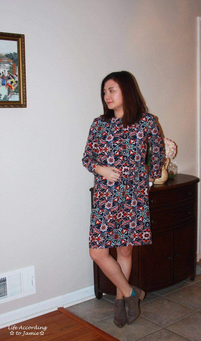 Stained Glass Shirt Dress 1