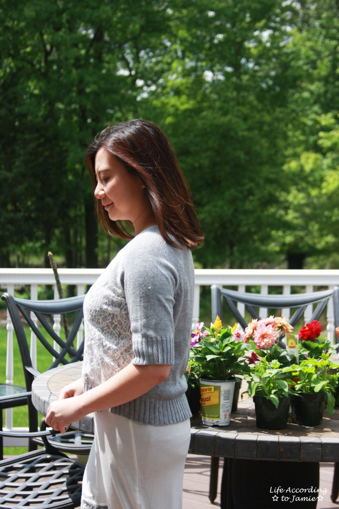 Cropped Lace Sweater + Lace Dress Extender