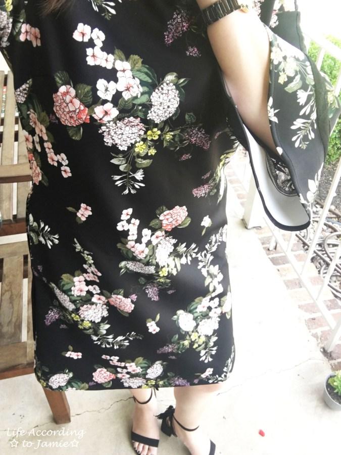Dark Floral + Lace Dress 14