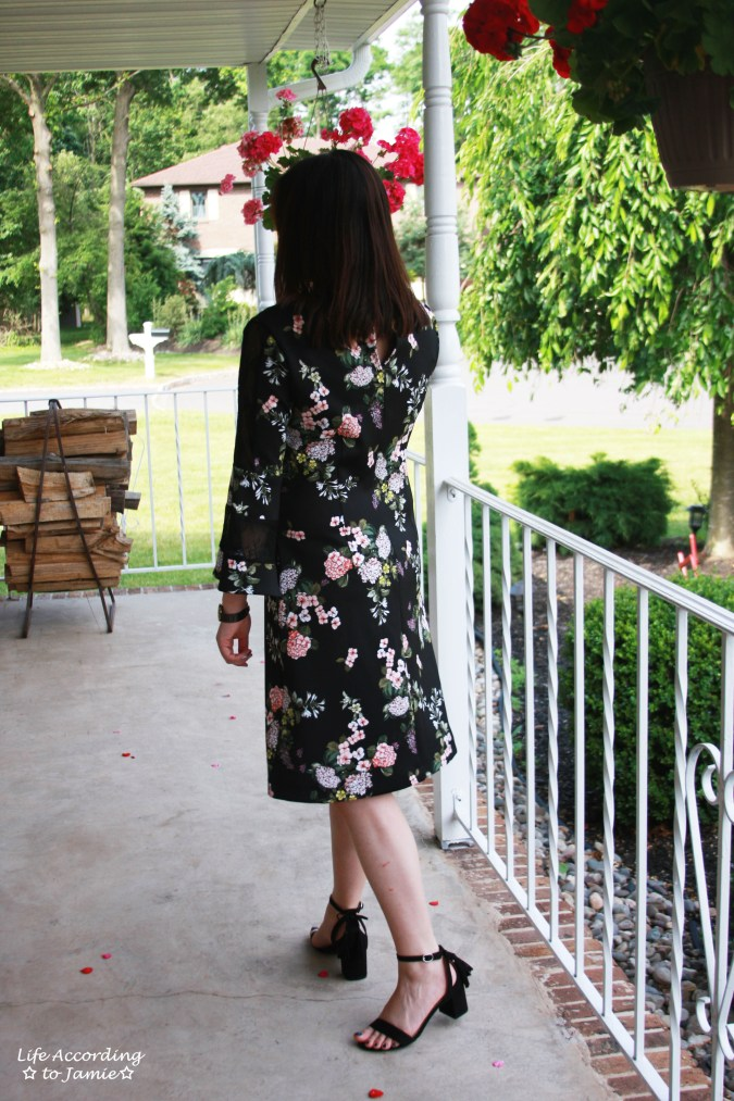 Dark Floral + Lace Dress 3