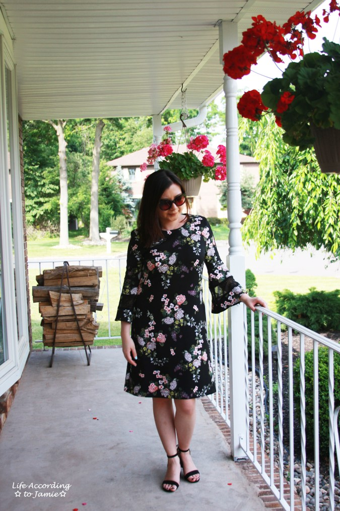 Dark Floral + Lace Dress 8