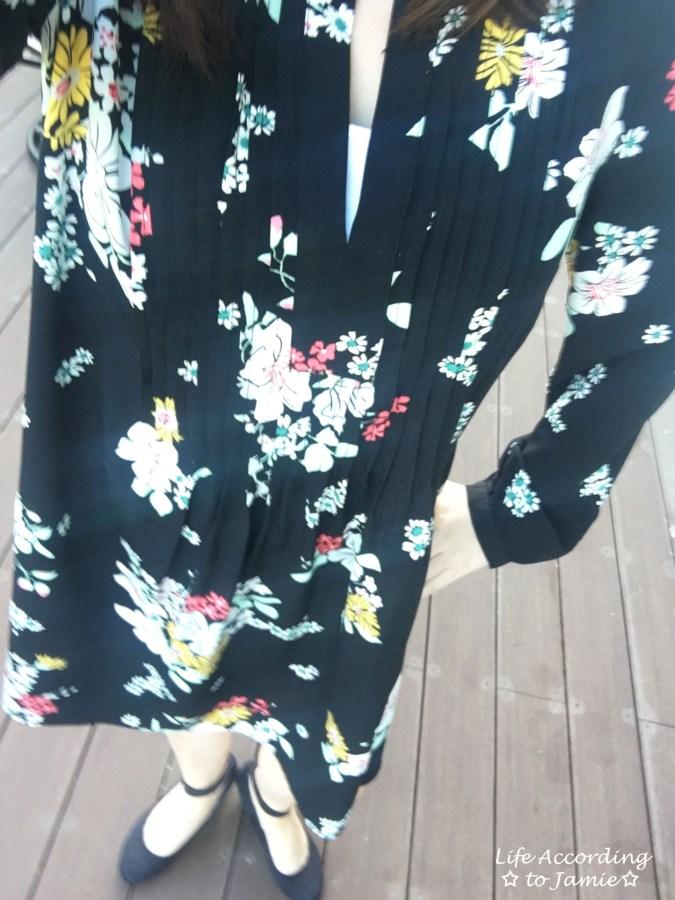 Dark Floral Shirt Dress 6