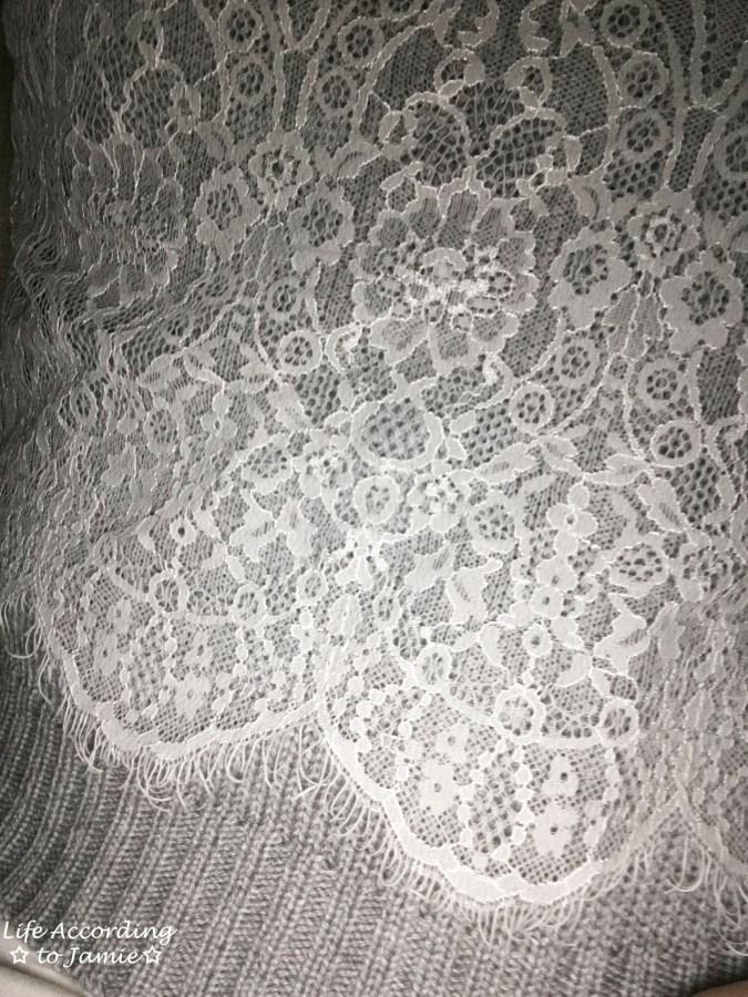 Lace Crop Sweater