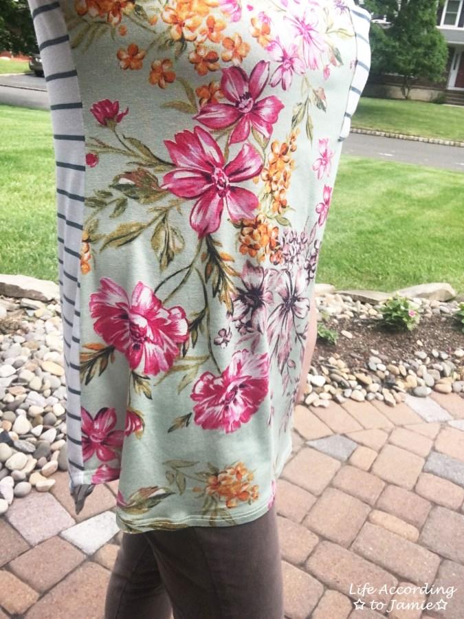 Sage Floral + Stripes 8