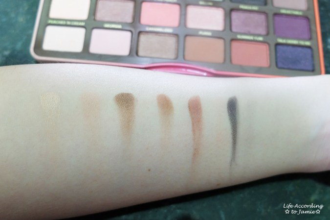 Sweet Peach Palette - Swatches 2