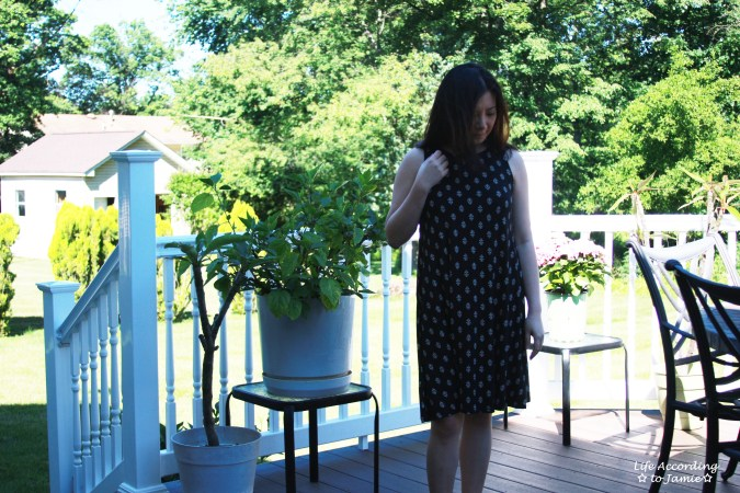 Patterned Swing Dress 1