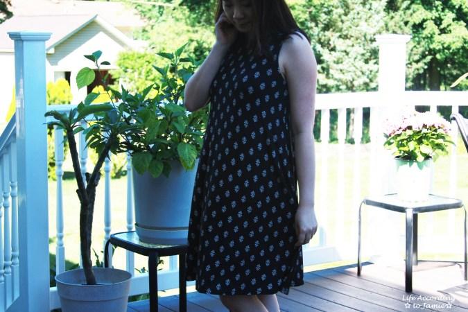 Patterned Swing Dress 5