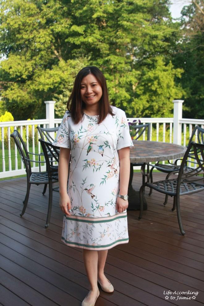 White Floral Shift Dress 3