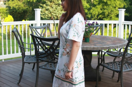 White Floral Shift Dress